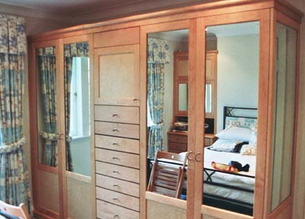Maple bedroom cabinets