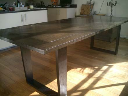 Bog oak dining table