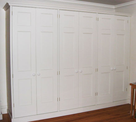 Wardrobes, hand painted MDF
